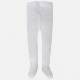 Mayoral 9760-23 punčocháče pro dívku kudrlinky bílé barvy
