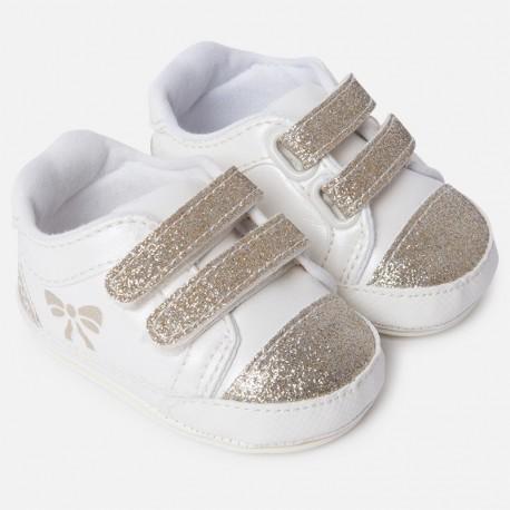 Mayoral 9807-12 Dětské boty pro dívky krémové barvy