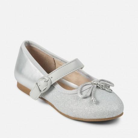 17a10e0e3 Mayoral 45867-81 Baletní obuv pro dívky stříbrná barva