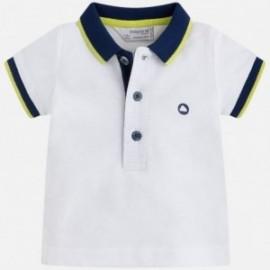 Mayoral 190-87 tričko chlapec pólo bílé barvy
