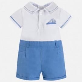 Mayoral 1652-63 Pajacyk pro chlapce barva modrý