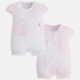 Mayoral 1742-46 Dívčí pyžamo 2 kusy růžové barvy