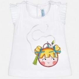 Mayoral 1018-61 tričko holčičí barva bílá