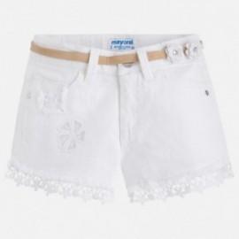 Mayoral 3216-39 Dívčí šortky bílé barvy
