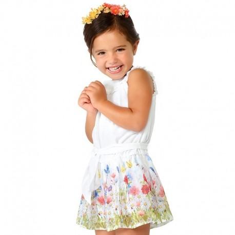 Mayoral 3804-72 kombinéza dívčí bílé barvy