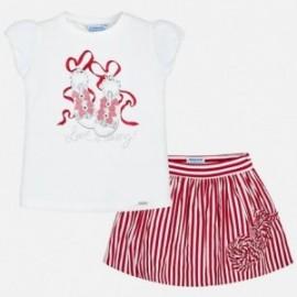 Mayoral 3995-54 Dívčí set červená barva