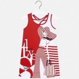 Mayoral 6972-40 Dívčí šaty červené barvy