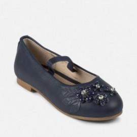 Mayoral 43861-64 Dívčí baleríny barva tmavě modrá