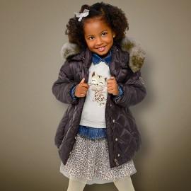 Mayoral 4424-31 bunda holčičí Mokka barva