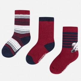 Mayoral 10442-31 sada ponožky chlapectví barva bordó