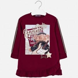 Mayoral 4978-63 šaty holčičí malinová barva