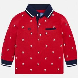 Mayoral 2108-97 Chlapčenská polokošile, červená barva
