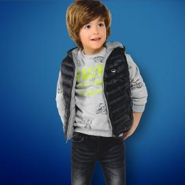 Mayoral 4466-58 vesta pro chlapce oboustranný barva navy/šedá