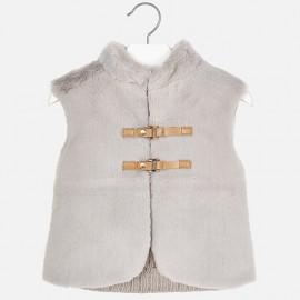 Mayoral 4330-91 Dívčí vesta barva stříbrná