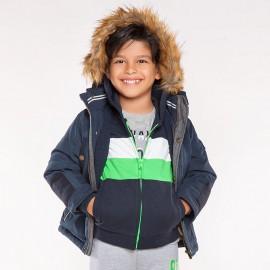 Mayoral 4416-32 Chlapecká bunda s tmavě modrou barvou