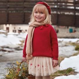 Mayoral 4318-63 Dívčí svetr červený