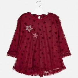 Mayoral 4960-28 Dívčí šaty malinová barva