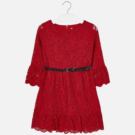 Mayoral 7930-89 Sukienka koronki kolor Czerwony