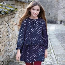Mayoral 7934-41 Dívčí šaty barva granát