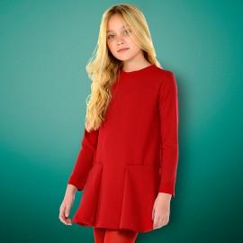 Mayoral 7942-83 Dívčí šaty červené barvy