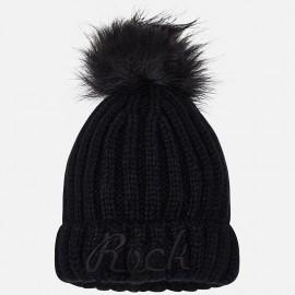 Mayoral 10511-37 Dívčí klobouk barva černá