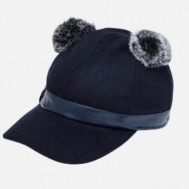 Mayoral 10516-11 Dívčí čepice s tmavě modrou barvou
