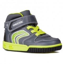 Geox Chlapčenské boty barva celadon / šedá J8447B-05414