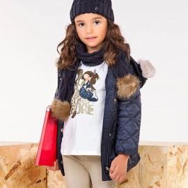 Mayoral 4424-34 Prošívaná dívčí bunda barva námořnická modř