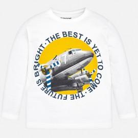 Mayoral 4020-72 Chlapčenské tričko s krémovou barvou