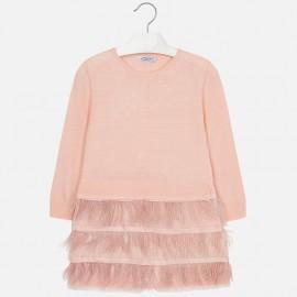 Mayoral 4930-69 Dívčí šaty z barvy růží