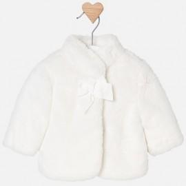 Mayoral 2438-61 kabát kožešina dívčí krémová barva