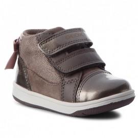 Geox Dívčí boty B841HB barva šedá