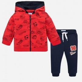 Mayoral 2878-50 track-suit pro chlapce červená/tmavě modrá