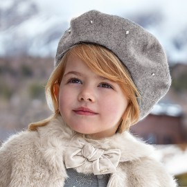 Mayoral 10510-63 víčko baret dívčí stříbrná barva