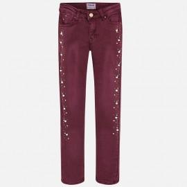 Mayoral 7534-21 kalhoty dívčí burgundské barvy