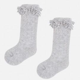 Mayoral 10457-68 ponožky pro dívku stříbrná barva