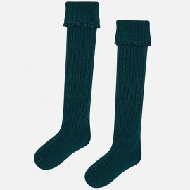 Mayoral 10499-59 ponožky pro dívky zelená barva