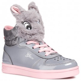 Geox Dívčí boty barva šedá/růžová J844ME-0AJ02-M