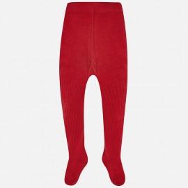 Mayoral 10497-69 Dívčí punčocháče s lemem barva červená