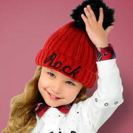 Mayoral 10511-35 Dívčí klobouk barva červená
