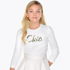 Mayoral 830-10 tričko holčičí Barva smetany
