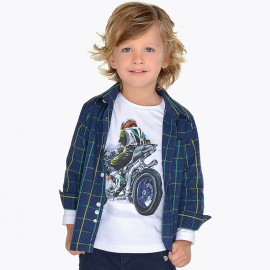 Mayoral 4154-89 košile chlapci barva granát