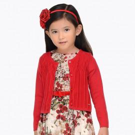 Mayoral 4326-40 Dívčí svetr červená barva