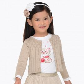 Mayoral 4326-41 Dívčí svetr barva béžová