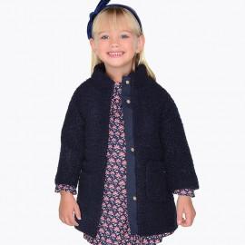 Mayoral 4498-43 kabát dívčí barva granát