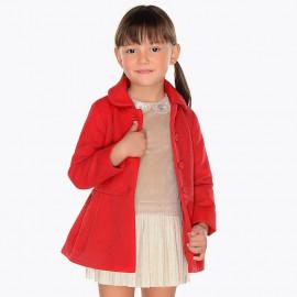 Mayoral 4496-52 Dívčí kabát červená barva