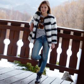 Mayoral 7538-16 Kalhoty dívčí lehká džínová barva