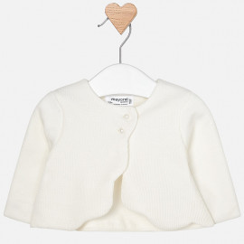 Mayoral 2428-67 Dívčí bolerský svetr bílé barvy