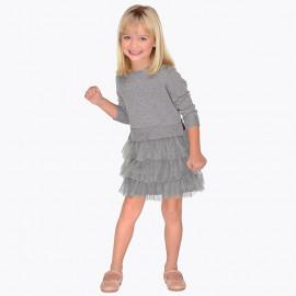 Mayoral 4930-70 Dětské šaty barva šedá