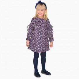Mayoral 4952-43 Girlish šaty barvy granát
